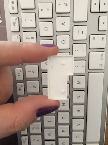 The inside of the return key