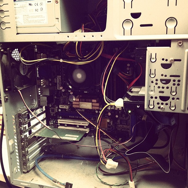 The inside of a computer