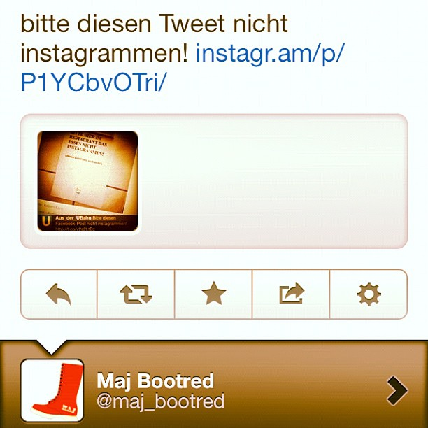 An image of a tweet that say bitte diesen Tweet nicht instagrammen!