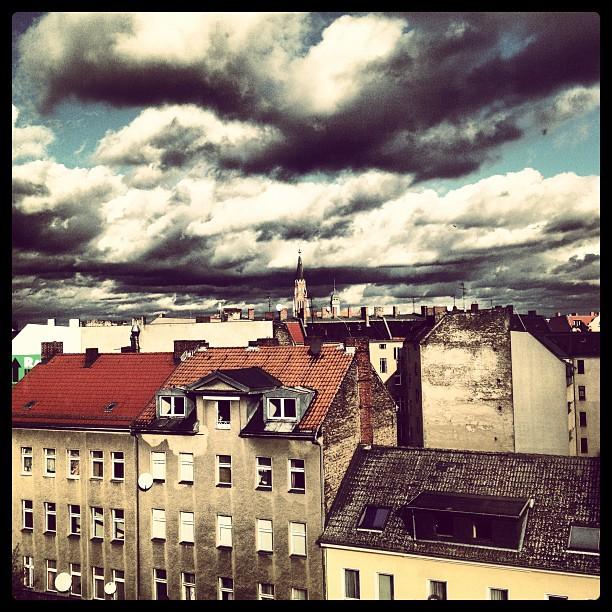 Berlin Wedding with cloudy sky