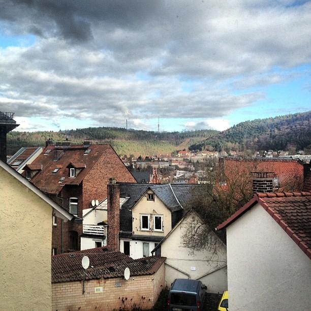 Ein Foto mit Blick über Marburg, mit einem Instagram-Filter